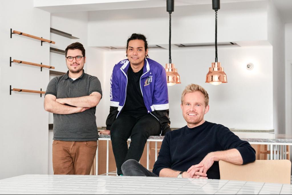 Photo of Choco cofounders: Julian Hammer, Rogério Da Silva Yokomizo, Daniel Khachab