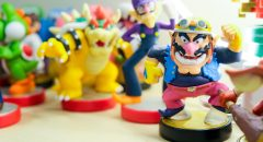 A photo of video game character figurines