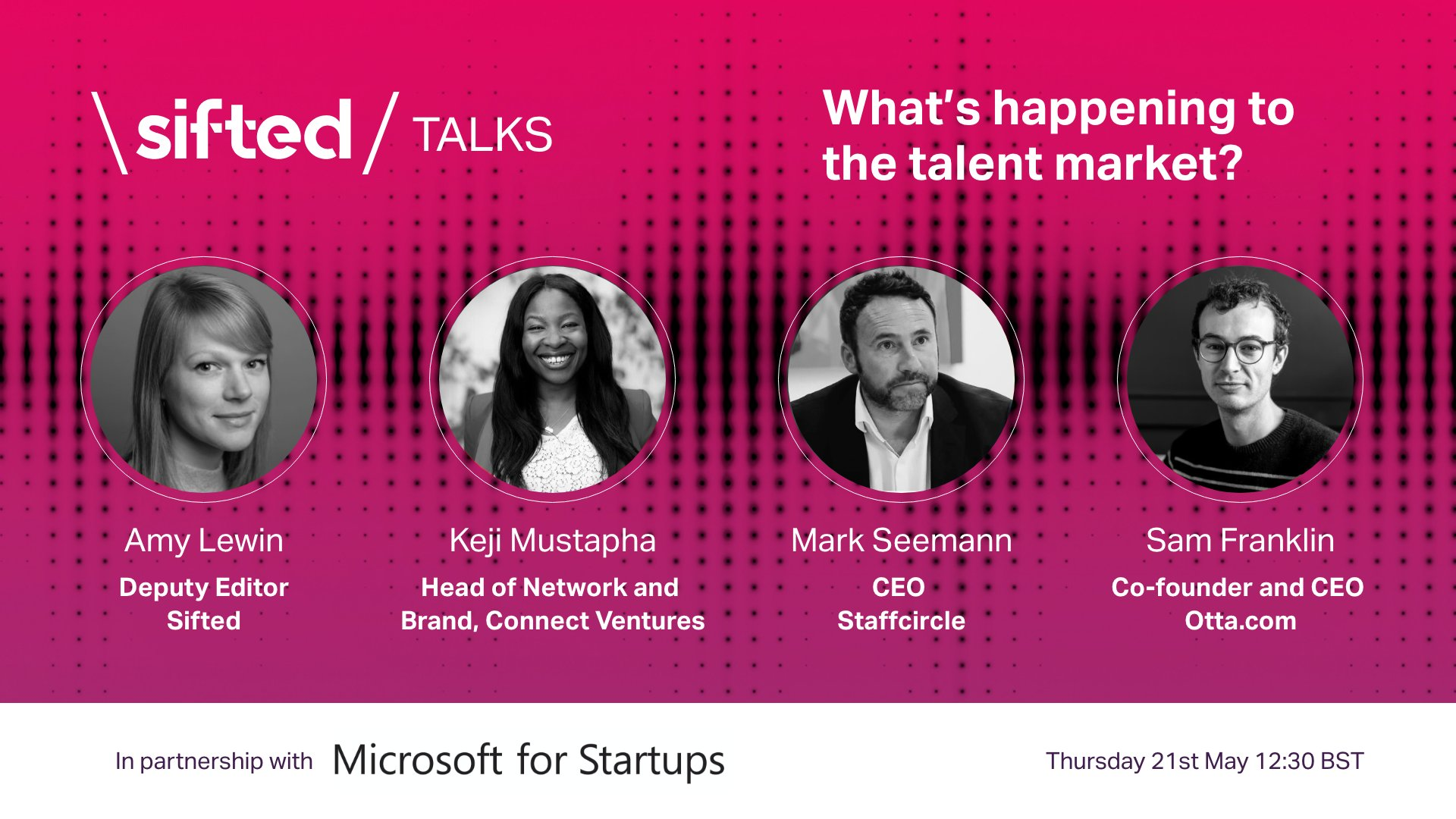 promotional poster for sifted talks talent webinar