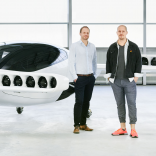 Picture of Lilium cofounders in front of the jet