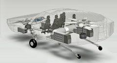 Cutout view of a CityHawk flying car