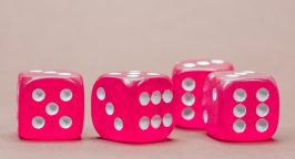 Picture of four pink dice