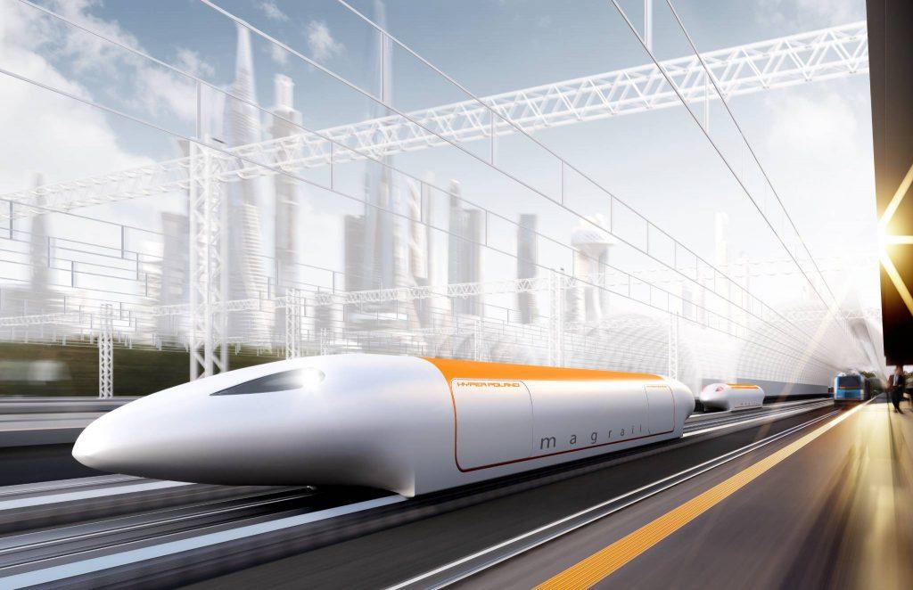 Render of Hyper Poland hyperloop concept