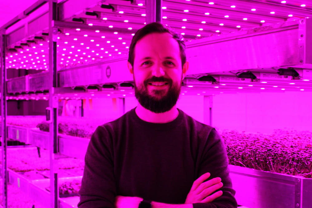 Jamie Burrows, CEO and founder of vertical farming startup Vertical Future