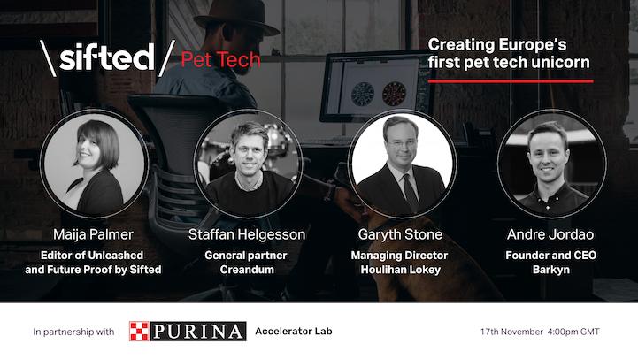Creating Europe's first pet tech unicorn event promo image