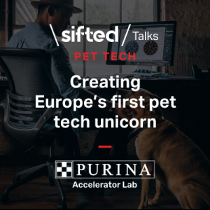 Advert for Sifted Talk on creating a pet tech unicorn