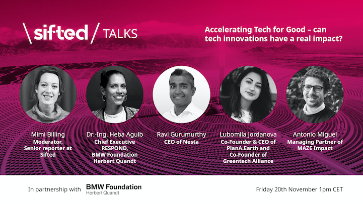 Accelerating tech for good – can tech innovations have a real impact? event promo image