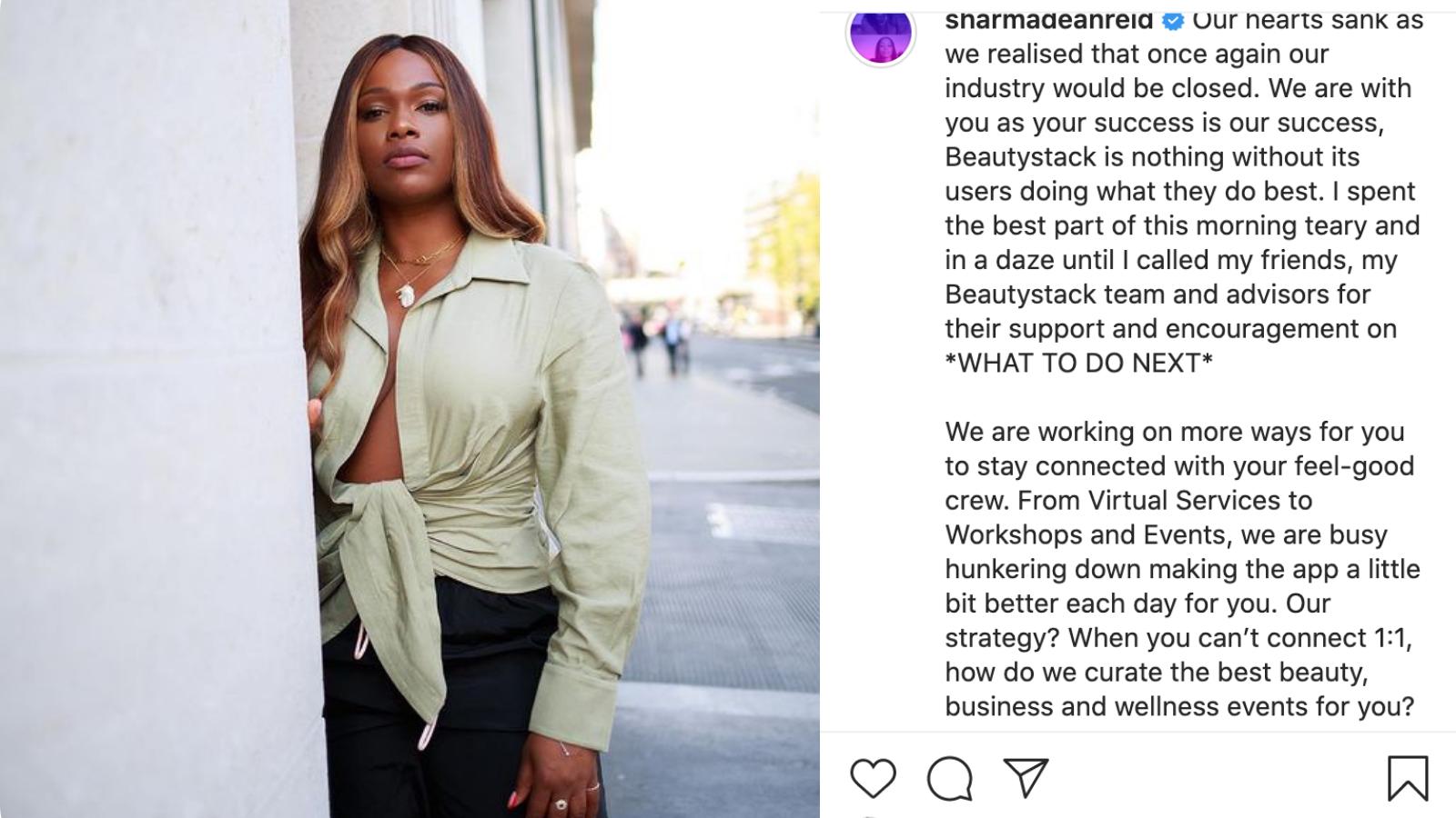 Sharmadean Reid, Instagram tech influencer to follow