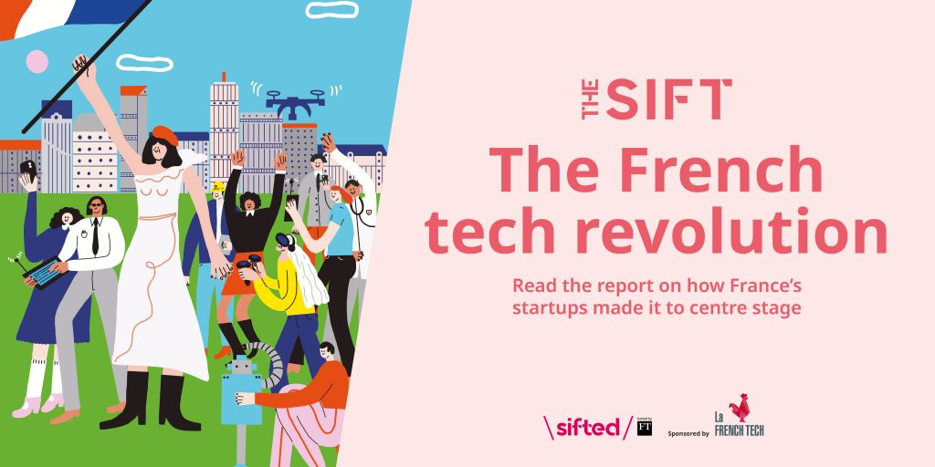 A banner of Sifted's The Sift report about French tech