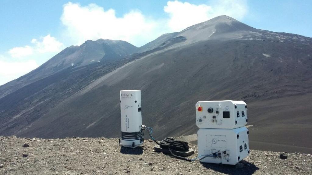 Muquans sensors on Mount Etna
