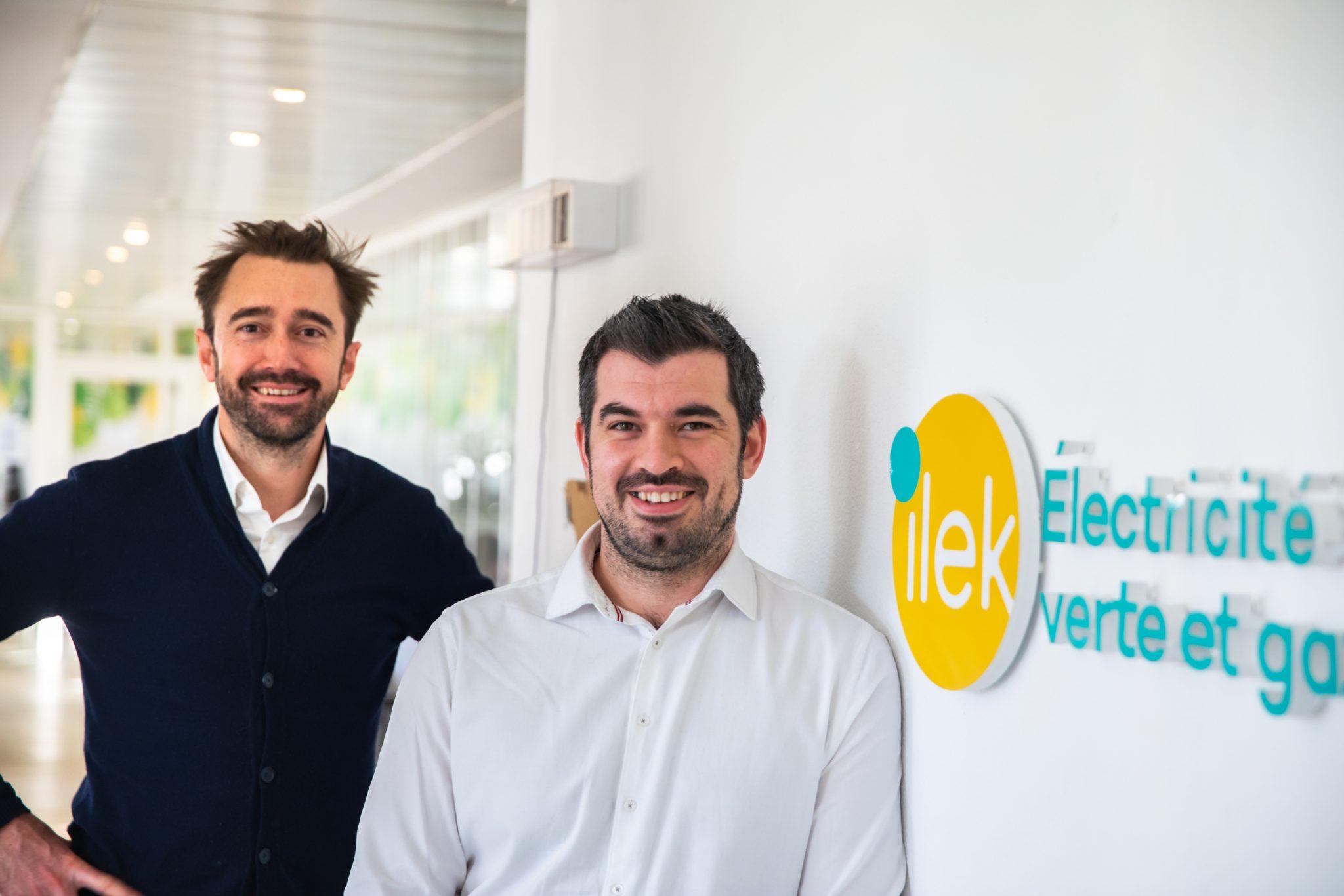 Photo of Rémy Companyo and Julien Chardon, cofounders of B Corp ilek.