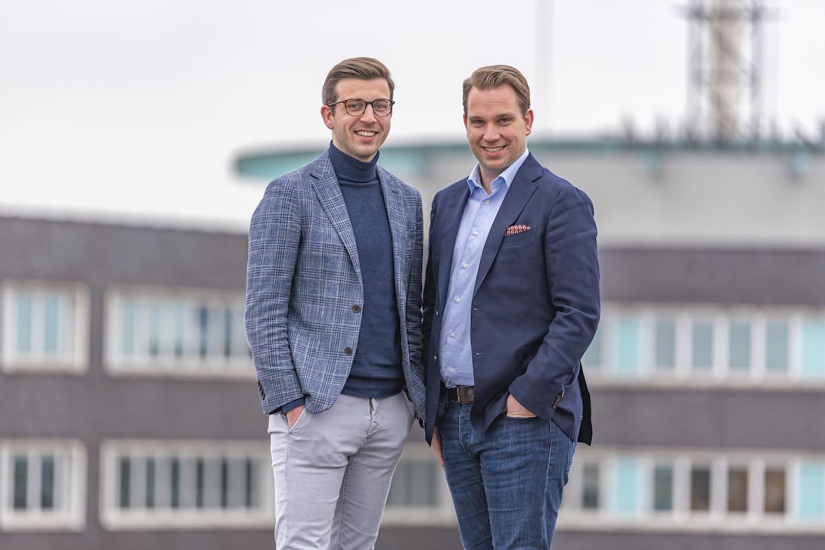 Photo of Milan van der Meulen and Patrick van der Meulen, cofounders of Enie.nl.