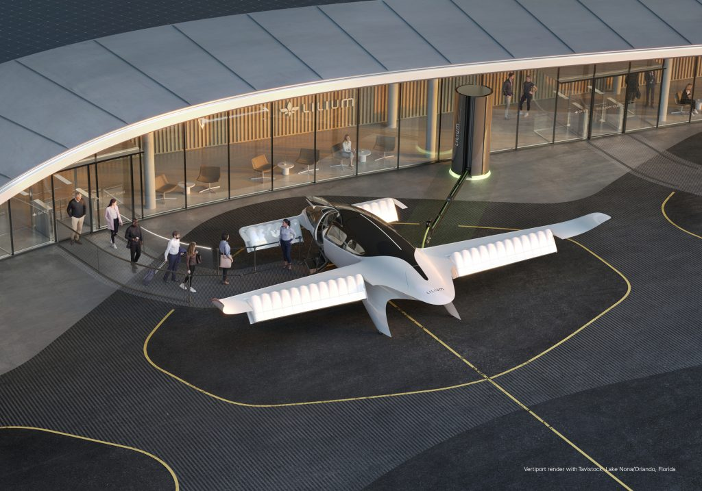 Lilium's 7-seater flying taxi
