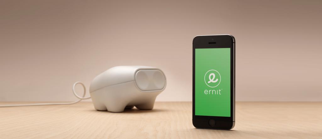 Ernit piggy bank and app