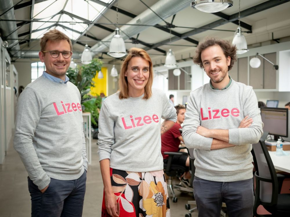The co-founders of French rental software startup Lizee.