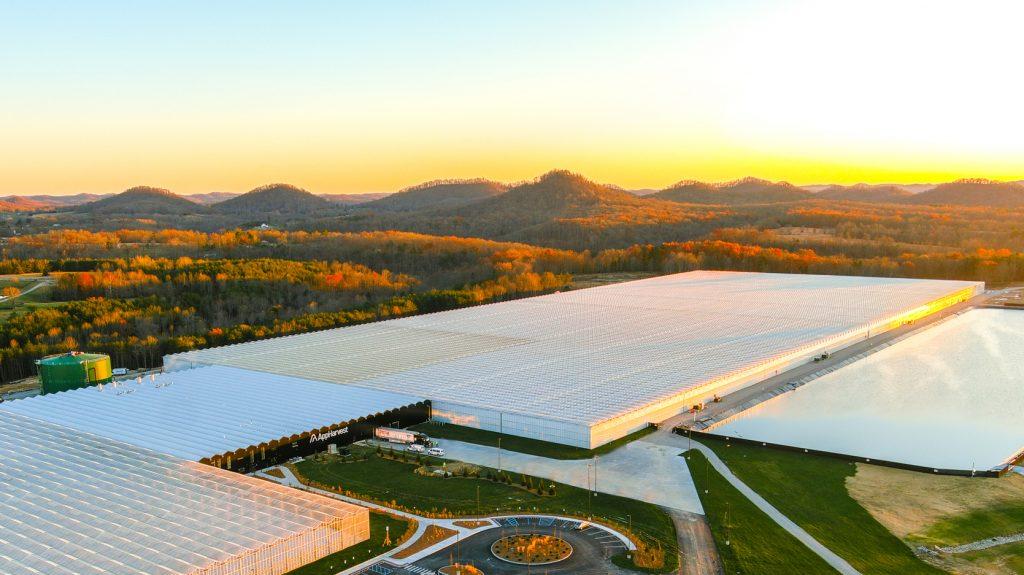 AppHarvest's high-tech greenhouse in Kentucky.