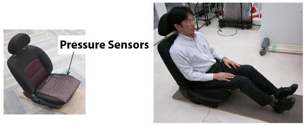 Japanese butt-sensing car seat