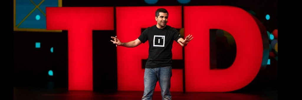 Herman Narula on the TED stage
