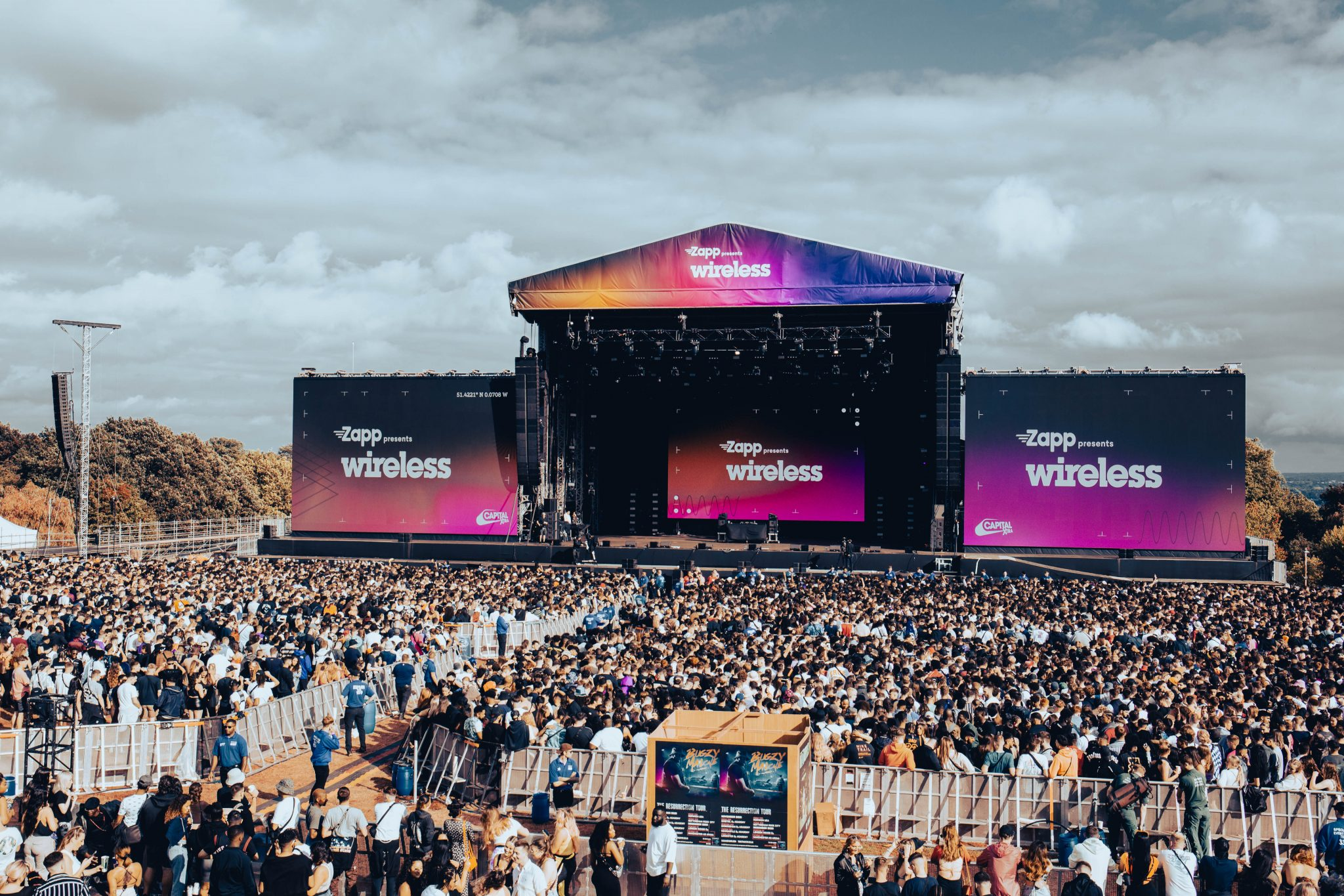 Zapp logo on the main stage at Wireless festival