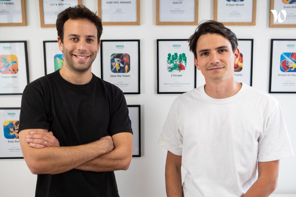 Homes Games CEO Daniel Nathan and CRO Olivier Le Bas